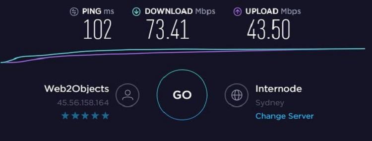 ExpressVPN AU Speed Test